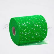 Emerald Sequin Star Tulle Roll